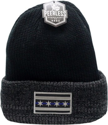 Chicago Flag Blue Line Cuffed Knit Hat Thinsulate