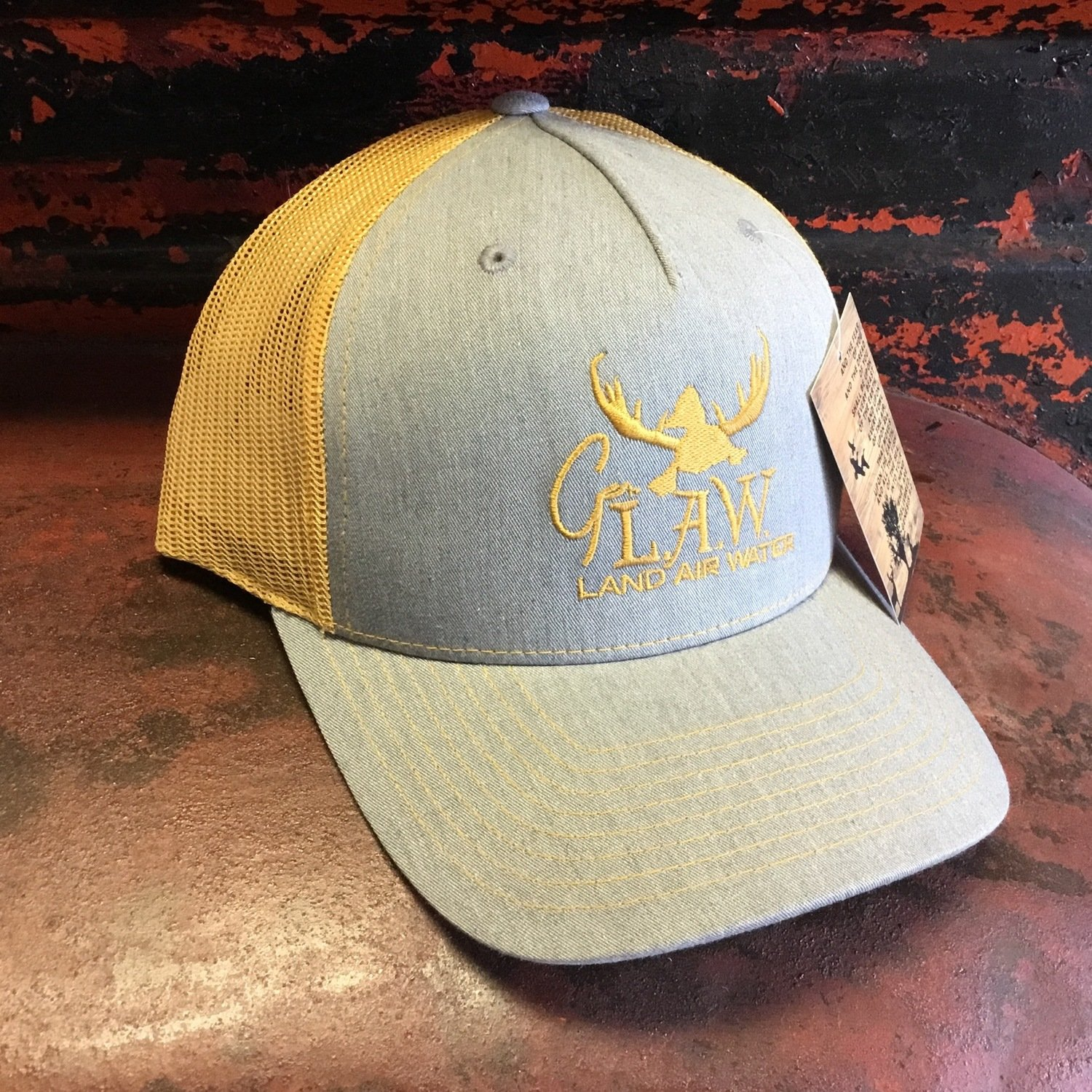 Duck G. LAW Jean Grey/Mustard Trucker