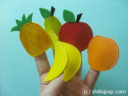 Овощи и фрукты - пальчиковые игрушки