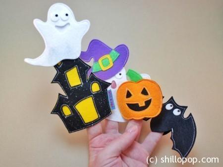 Хеллоуин пальчиковые игрушки из фетра
