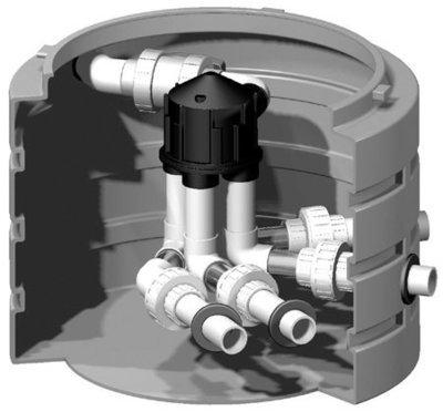 Pre-Assembled 6000 Series K-Rain Valve W/4 Outlets + 4 Zone Cam