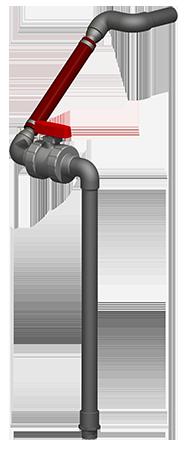 """Effluent Discharge - SCH80 - Drain Back - 1.25"""" - Simplex"""