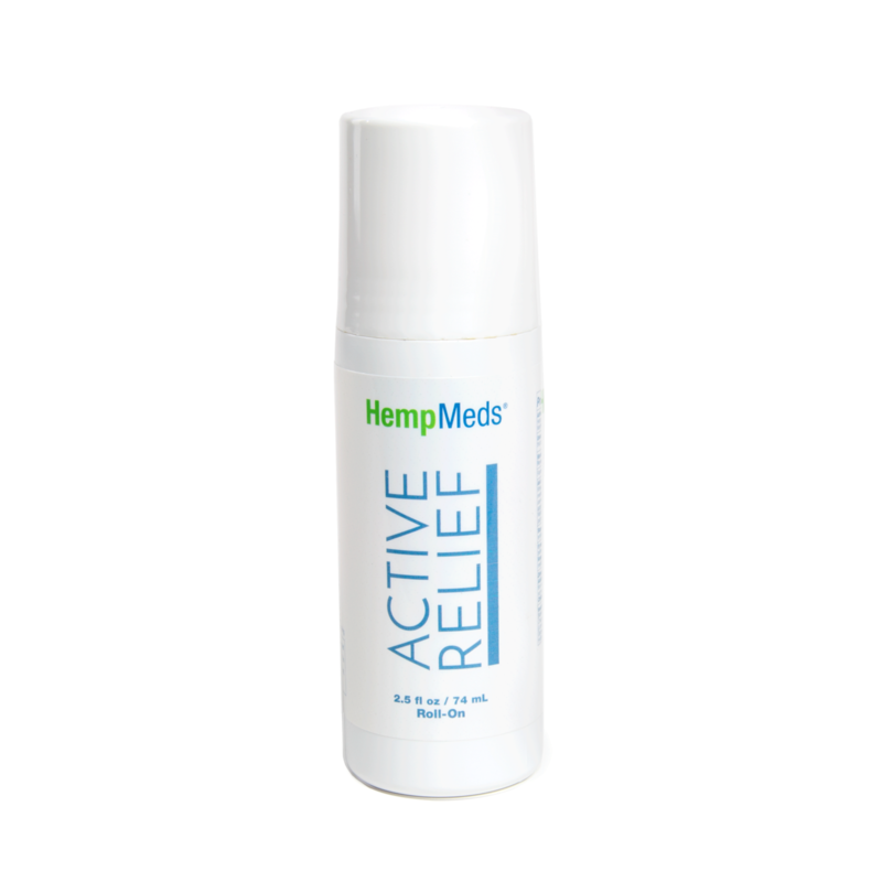 Active Relief Roll-On | Fast-Acting Relief | 10 mg Hemp Extract | CBD | Stiffness |