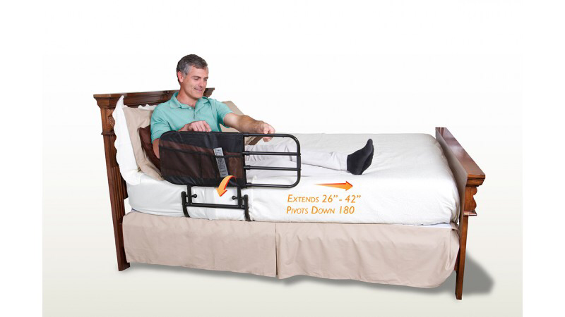 EZ Adjust Bedrail | Bedroom Fall Safety | Elderly Safety Device | Home Care Aids