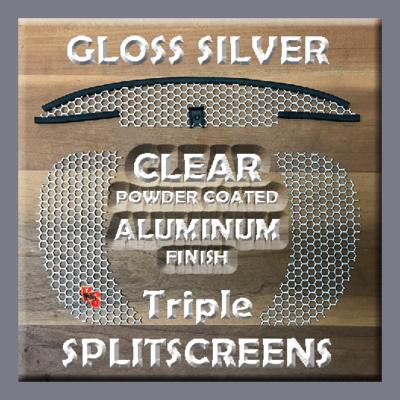Road Glide Triple SPLITSCREENS - Gloss Silver