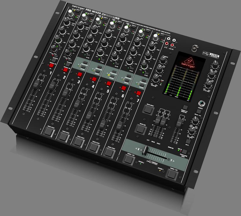 Behringer DX2000USB DJ-микшер со встроенным USB интерфейсом (7 каналов, оптический VCA кроссфейдер)