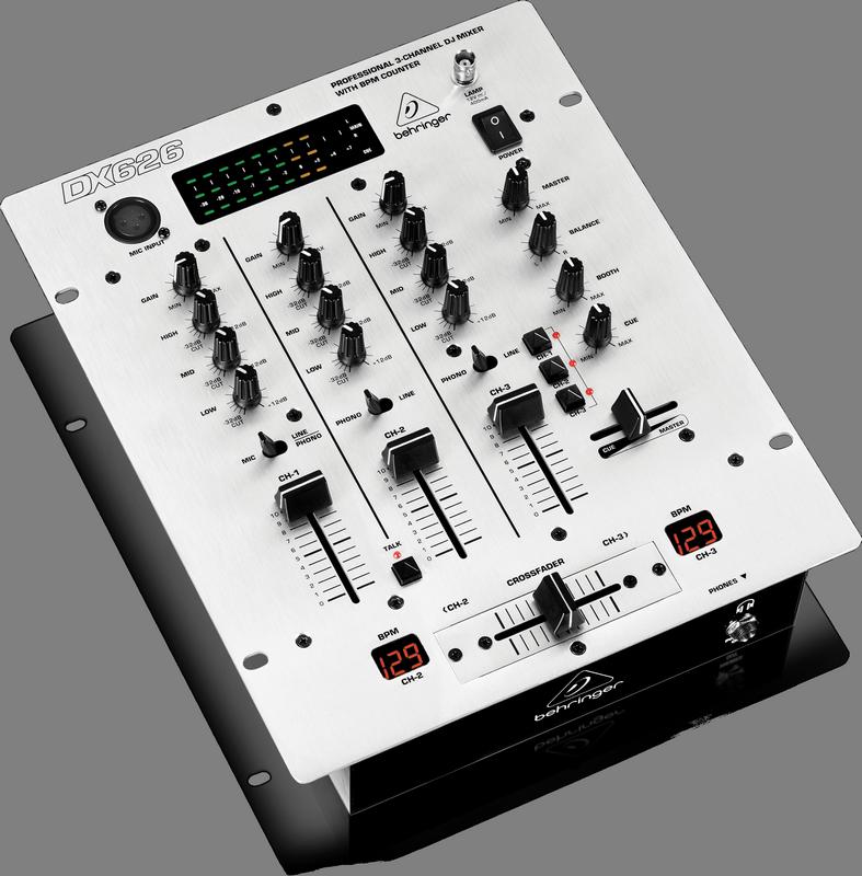 Behringer DX626 DJ-микшер со счетчиком темпа, 3 канала