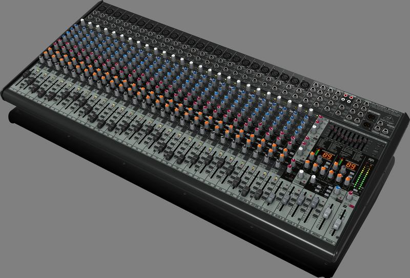 Behringer SX3242FX аналоговый микшер, 32 канала, 24 мик. + 4 лин. cтерео + 2 AUX RET, 4 AUX (2 PRE/POST), 2 GROUP, 2 DSP FX, Main L/R/Mono- XLR/Jack