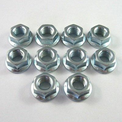 Sprintcar Front Wheel Flange Nuts - 10 Pack
