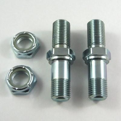 One Nut Stud Shock Bolt Kit for Threaded Axles - Steel