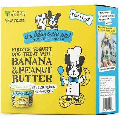 BANANA & PEANUT BUTTER - Frozen Yogurt (4PK)