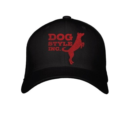 Jumping Dog Flexfit Hat - Black