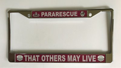 pja/ Pararescue License Plate Frame