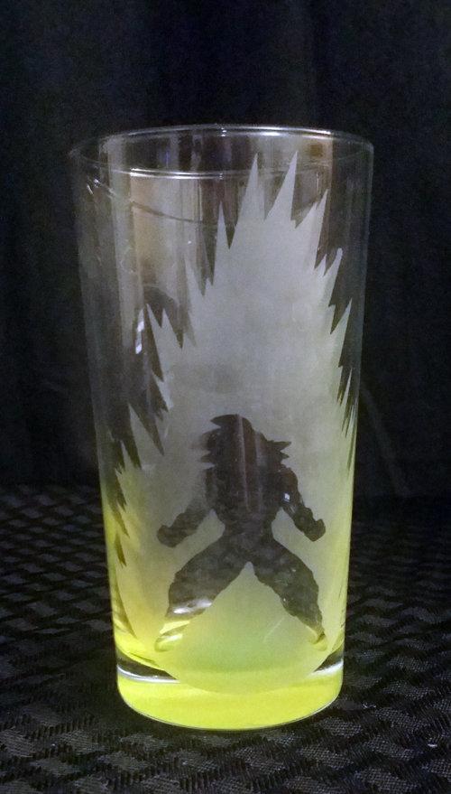 Dragonball Z (DBZ) Goku Etched Glass C-001