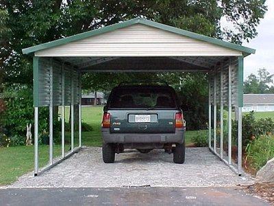 12 x 21 x 8 Fancy One Car Carport
