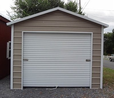 12 x 21 x 9 One Car Garage with one 10x7 Roll Up Door