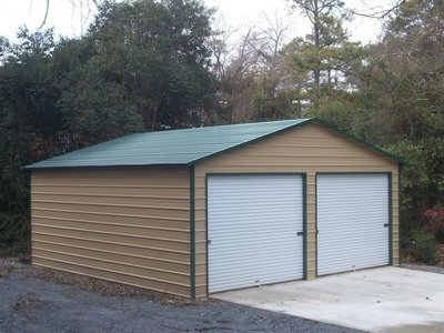 Two Car Garage with Two Roll Up Doors