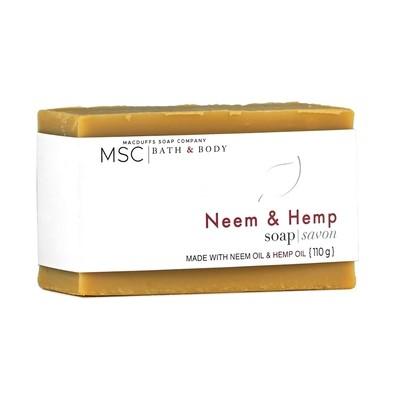Neem & Hemp Unscented Bar Soap