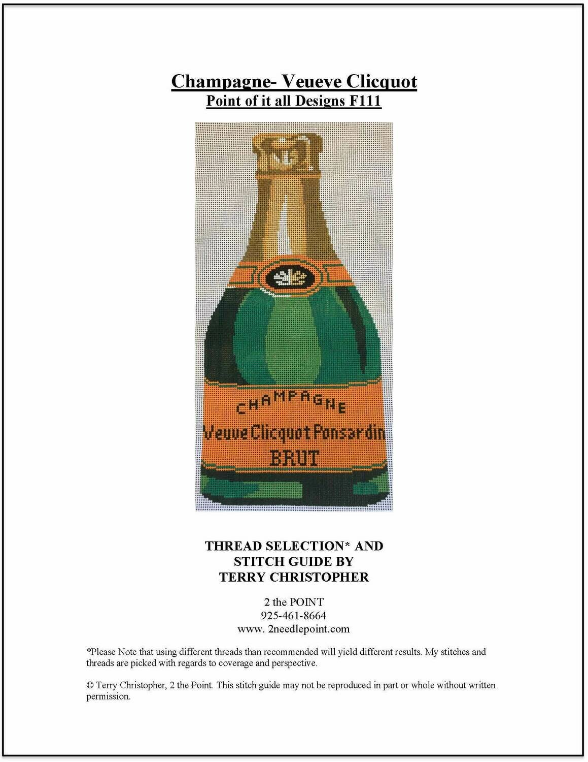 Point of it All, Veuve Champagne