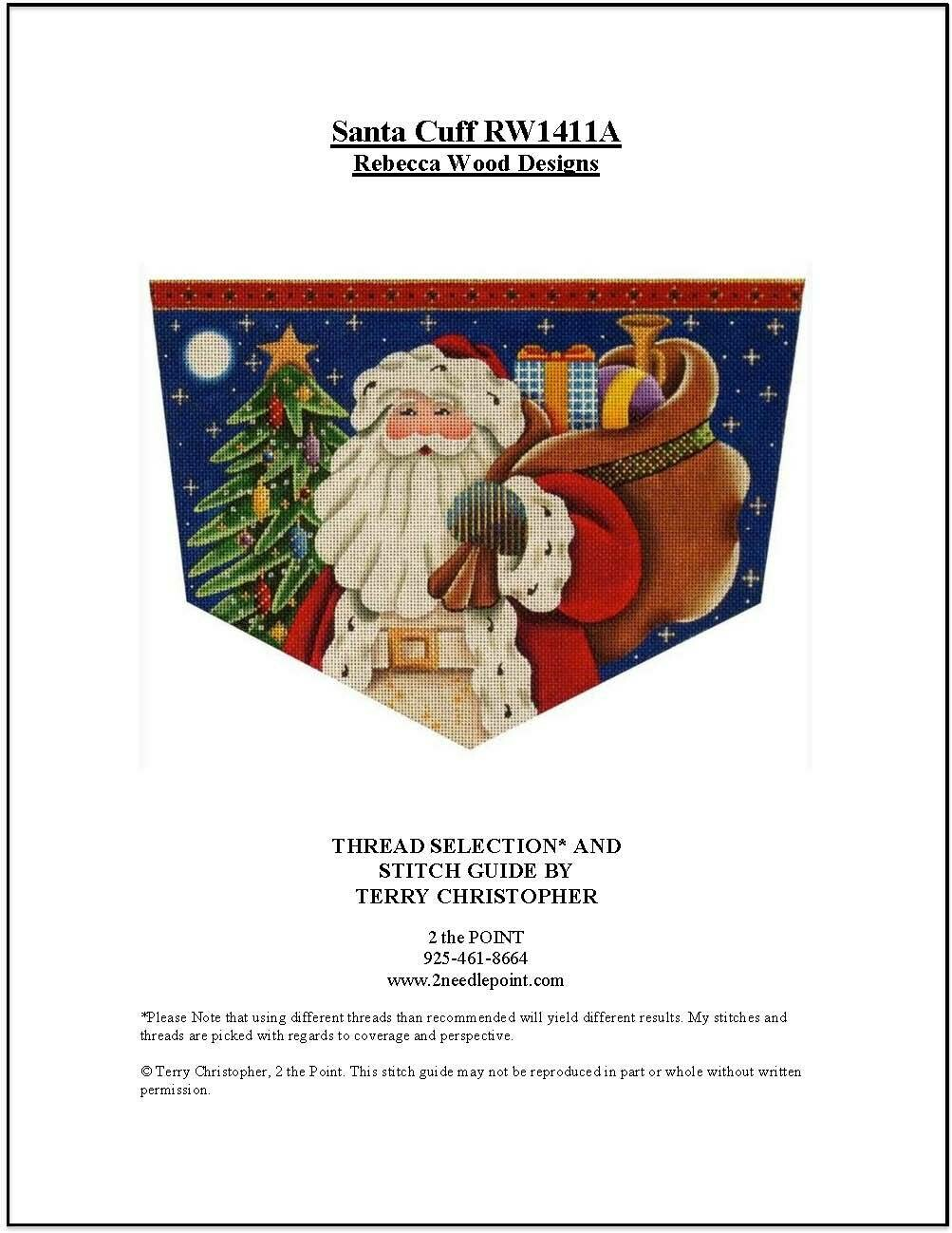 Rebecca Wood, Santa with Gifts Cuff RW1411A