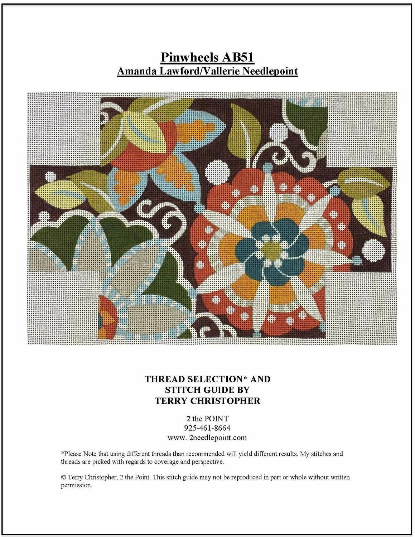 Vallerie Needlepoint, Pinwheel Brick Cover AB51