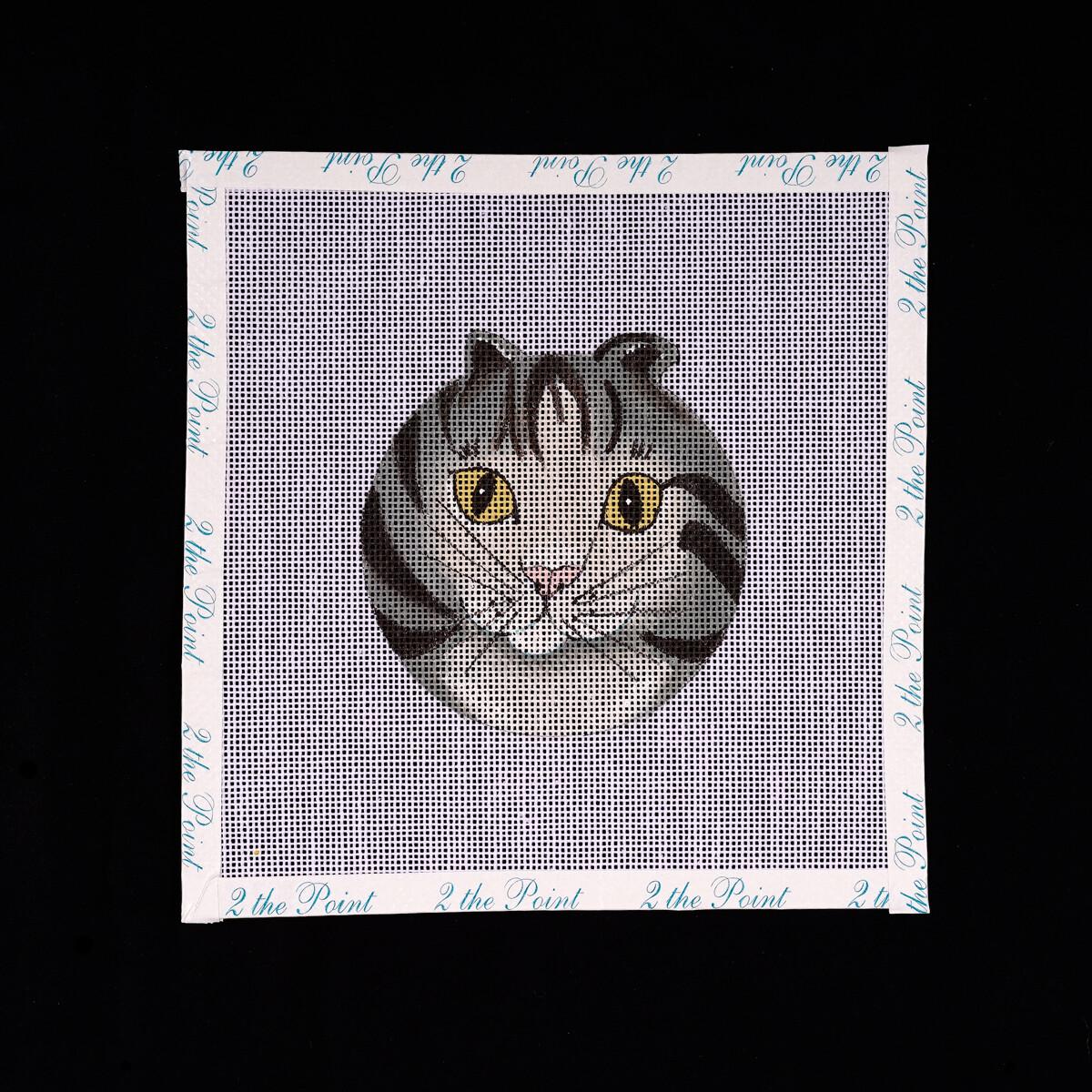 Unknown Designer, Striped Kitty Ornament