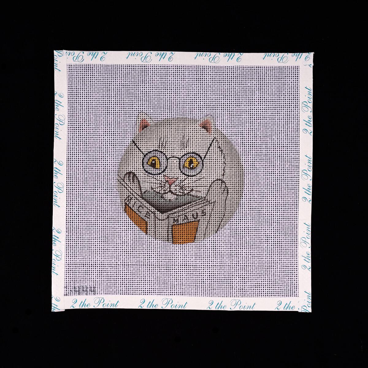 Unknown Designer, Reading Cat Ornament
