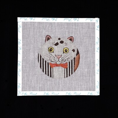 Unknown Designer, Kitty with Striped Vest Ornament