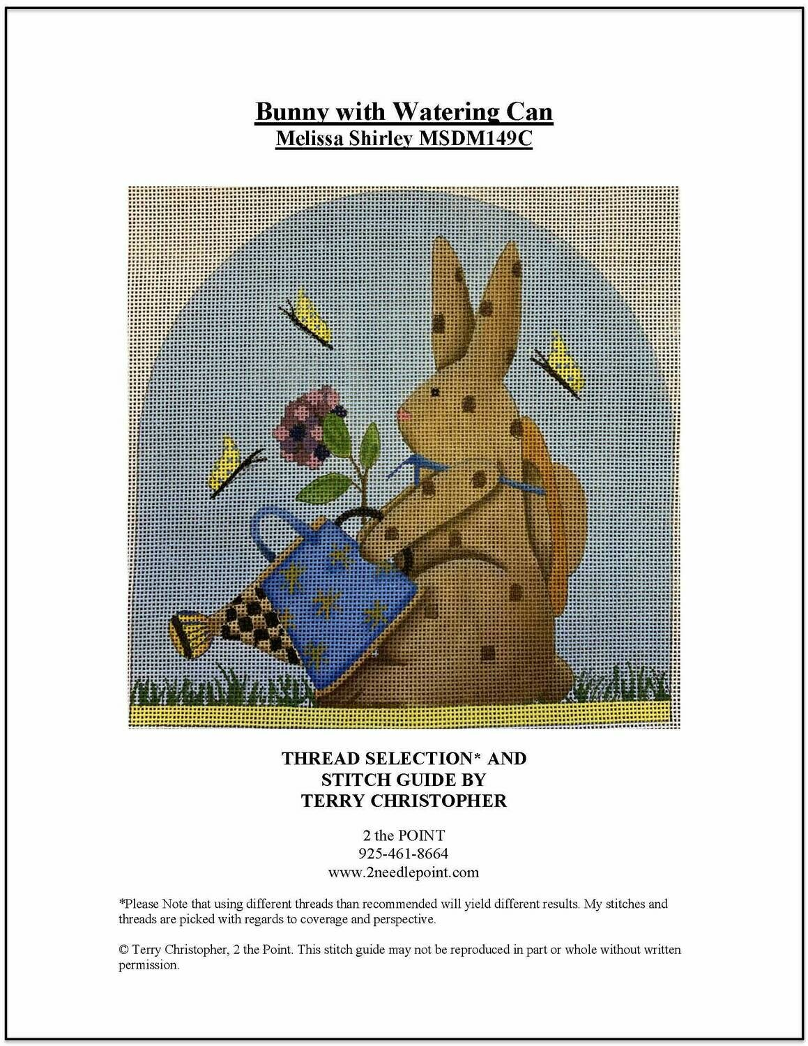 Melissa Shirley, Bunny with Watering Can MSDM149A