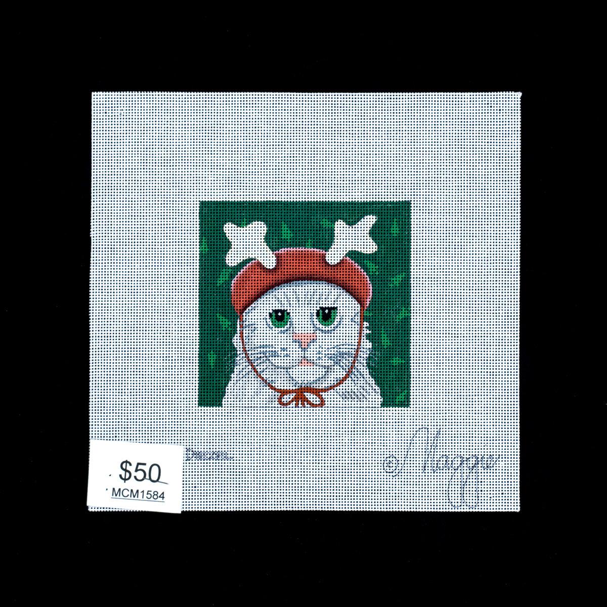 Maggie Co, Cat in Antler Cap, MCM1584