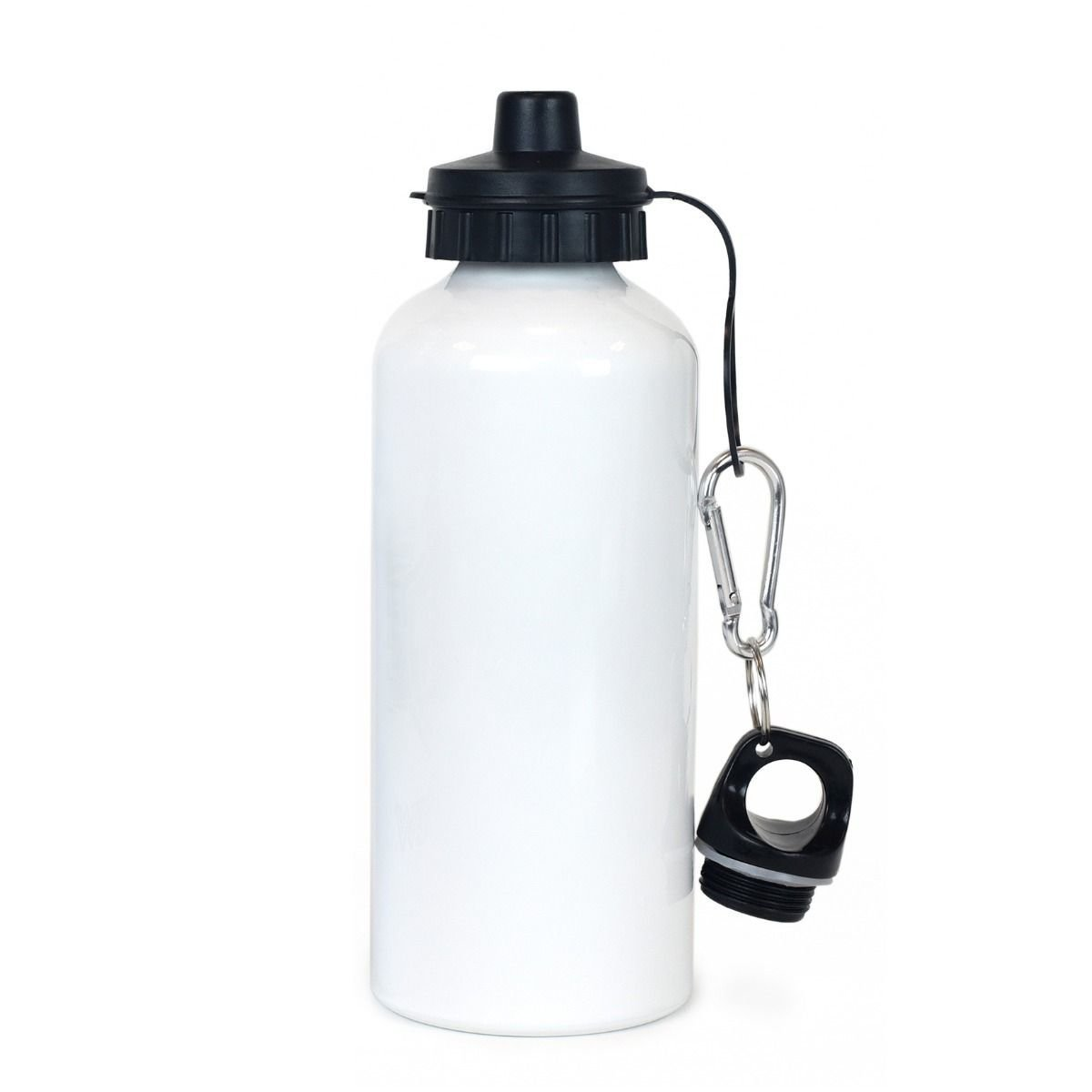 White Aluminum Liquid Bottle - 600mL Personalized Free Shipping
