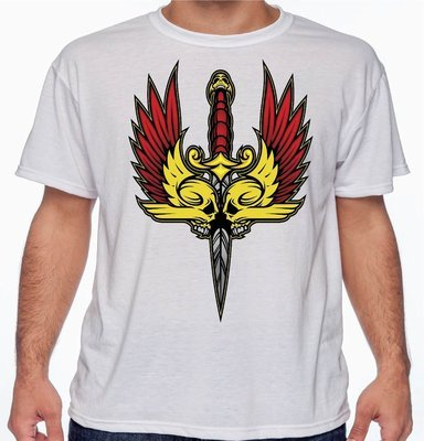 Death Blade T-Shirt Ace Designs FREE SHIPPING