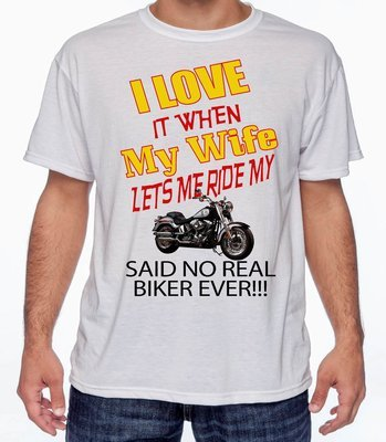 SAID NO REAL BIKER T-SHIRT FREE SHIPPING