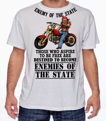 ENEMY OF THE STATE T-SHIRT FREE SHIPPING