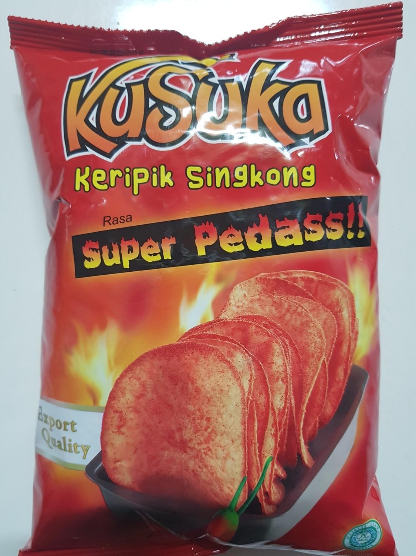 Kusuka - Keripik Singkong Super Pedasss!! @50g