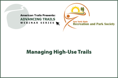 Managing High-Use Trails (OCTOBER 01, 2020)