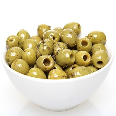 Seasoned Green Olives- Pitted Sicilian - 1/2Lb