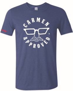 Carmen Approved Rubino's Heather Navy Blue T Shirt