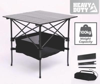 Black Portable Folding Compact Camping Picnic Table