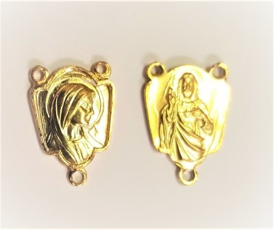 Medaille voor rozenkrans/paternoster goudkleur