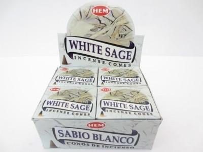 Witte Salie kegeltjes wierook