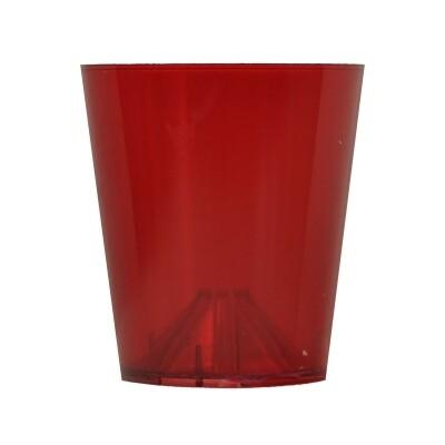 Vlambeschermer rood transparant plastic PER 10 STUKS
