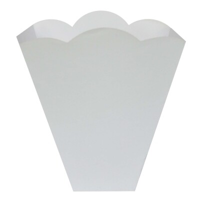 Vlambeschermer wit papier PER 10 STUKS