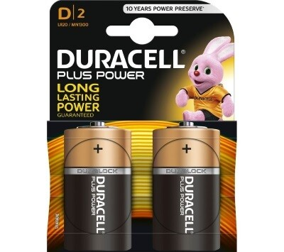 Duracell Batterijen  -Pack van 2-  LR20 of