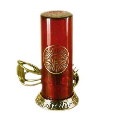 Lamp op 220V 23 cm met vlammetje
