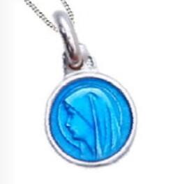 Medaille Lourdes 10 mm ZILVER