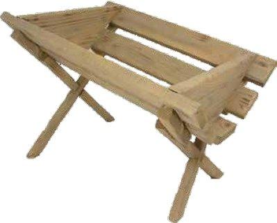 Kribbe in hout  57x44x38 cm
