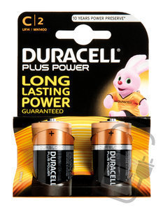 Duracell Batterijen  -Pack van 2-  LR14 of