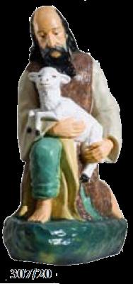 Herder geknield en schaap KER-ELM307-55-20