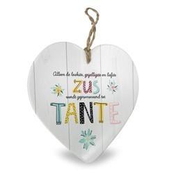 Tante - Baby collectie  Hartje in Porselein 15 x 1 x 15 cm